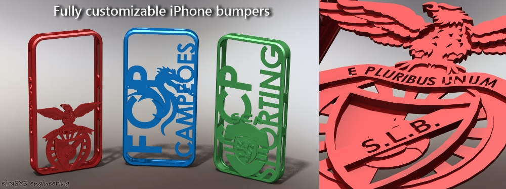 Customização de modelos - Bumpers do iPhone